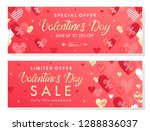 valentines day special offer... | Shutterstock .eps vector #1288836037
