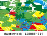 distressed multicolor...   Shutterstock .eps vector #1288854814