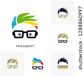 set of social geek color logo...   Shutterstock .eps vector #1288860997