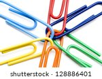 Joined Mult Colored Paperclips...
