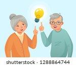seniors idea. old people couple ... | Shutterstock .eps vector #1288864744