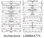 decorative page divider.... | Shutterstock .eps vector #1288864774