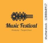 music festival logo design... | Shutterstock .eps vector #1288868917