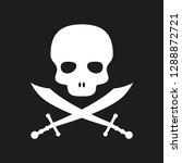 pirate skull vector logo style | Shutterstock .eps vector #1288872721