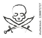 pirate skull vector logo style | Shutterstock .eps vector #1288872727