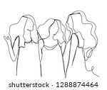 continuous line art or one line ... | Shutterstock .eps vector #1288874464