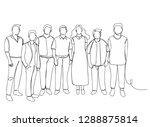 continuous line drawing of...   Shutterstock .eps vector #1288875814