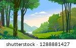 creeper creeping along a tree... | Shutterstock .eps vector #1288881427