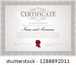 certificate with traditional... | Shutterstock .eps vector #1288892011