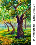 original oil painting ... | Shutterstock . vector #1288895194