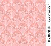 seamless pink vintage art deco... | Shutterstock .eps vector #1288911037