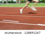 individual in the lead on the... | Shutterstock . vector #128891267