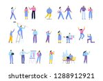 people of different ages and... | Shutterstock .eps vector #1288912921