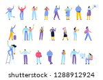 people of different ages and... | Shutterstock .eps vector #1288912924