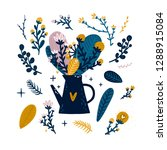 vector flowers cute collection...   Shutterstock .eps vector #1288915084