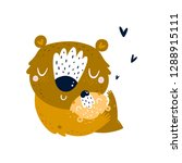 vector cute bear mother and... | Shutterstock .eps vector #1288915111