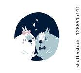cute rabbits vector kids... | Shutterstock .eps vector #1288915141