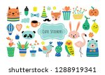spring season cute elements set.... | Shutterstock .eps vector #1288919341