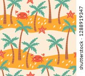 seamless pattern for summer... | Shutterstock .eps vector #1288919347