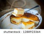 sweet cottage cheese casserole... | Shutterstock . vector #1288923364