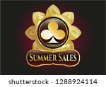 gold badge or emblem with...   Shutterstock .eps vector #1288924114
