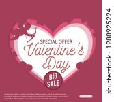 valentines day sale special... | Shutterstock .eps vector #1288925224