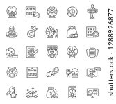 lottery  icon set. prize... | Shutterstock .eps vector #1288926877