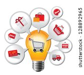 internet and online shopping... | Shutterstock . vector #128892965