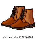 shoes on white background...   Shutterstock .eps vector #1288940281