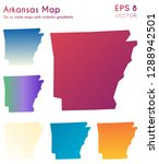 map of arkansas with beautiful...   Shutterstock .eps vector #1288942501