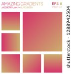 colorful gradients in jazzberry ...   Shutterstock .eps vector #1288942504