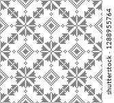 cross stitch  seamless... | Shutterstock .eps vector #1288955764
