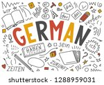 german. hand drawn doodles and... | Shutterstock .eps vector #1288959031
