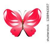 beautiful red butterflies ... | Shutterstock .eps vector #1288963357