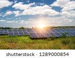 solar panel  photovoltaic ... | Shutterstock . vector #1289000854