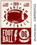 american football typographical ... | Shutterstock .eps vector #1289005531