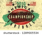american football typographical ... | Shutterstock .eps vector #1289005534