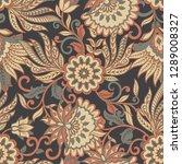 vintage pattern in  batik style.... | Shutterstock . vector #1289008327
