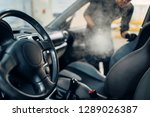Cleaning Of Car Salon With...