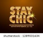 vector golden emblem with text... | Shutterstock .eps vector #1289031634