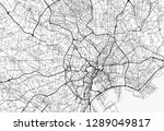 area map of tokyo  japan. this... | Shutterstock .eps vector #1289049817