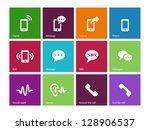 phone icons on white background....