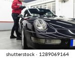 car detailing   worker with...   Shutterstock . vector #1289069164