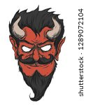 the red devil with a mustache... | Shutterstock .eps vector #1289072104