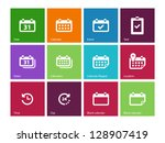 calendar icons on color... | Shutterstock .eps vector #128907419