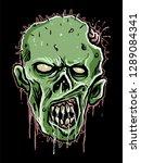 zombie head vector | Shutterstock .eps vector #1289084341