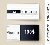 vector set of luxury gift... | Shutterstock .eps vector #1289088937
