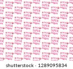 vector pattern for mother's day....   Shutterstock .eps vector #1289095834