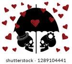 skull icon wedding couple... | Shutterstock .eps vector #1289104441
