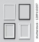 photo realistic square white... | Shutterstock .eps vector #1289110207